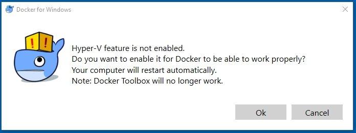 docker tools on windows 10